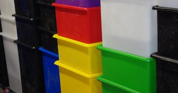 plastic box storage