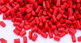red plastic beads