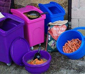 plastic animal food storage