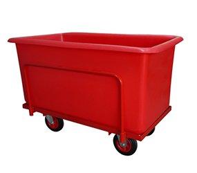 red tub on trolley