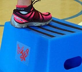 blue plastic sport step